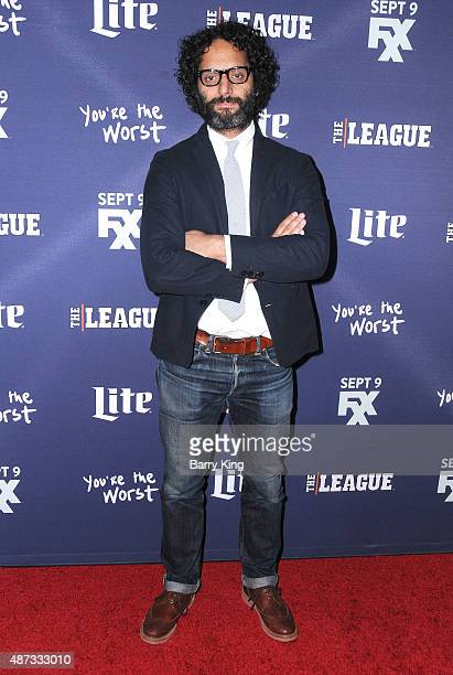 Actor Jason Mantzoukas attends the premiere of FXX's 'The League' final season and 'You're The Worst' 2nd season at the Regency Bruin Theater on...