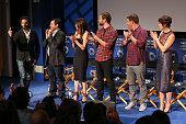 Actor Jason Mantzoukas executive producers Jeff Schaffer and Jackie Marcus Schaffer actors Jon Lajoie Stephen Rannazzisi and Katie Aselton attend a...
