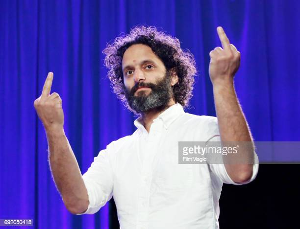 Actor Jason Mantzoukas performs onstage at the Larkin Comedy Club during Colossal Clusterfest at Civic Center Plaza and The Bill Graham Civic...