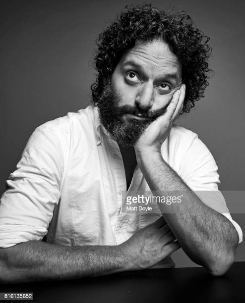 Actor Jason Mantzoukas photographed for Self Assignment on June 23 in New York City