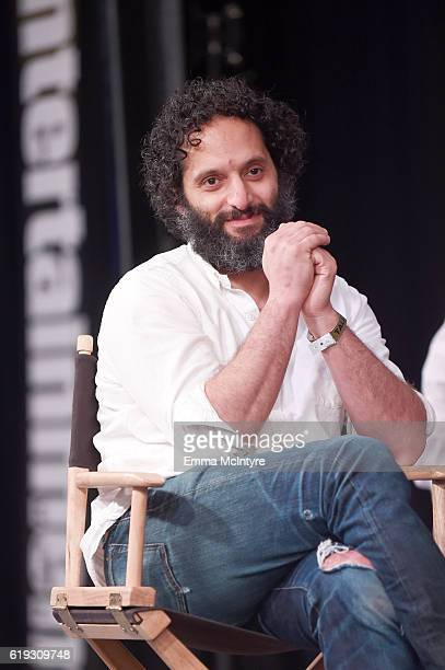 Actor Jason Mantzoukas speaks onstage during the 'Comedy Improv AllStars Showcase' panel at Entertainment Weekly's PopFest at The Reef on October 30...