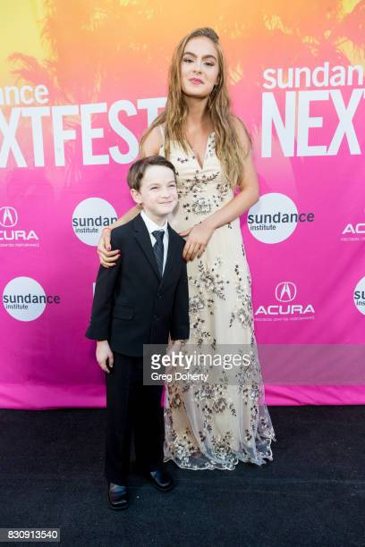 Actor Jason Maybaum and Actress Brighton Sharbino arrive for the 2017 Sundance NEXT FEST at The Theater at The Ace Hotel on August 12 2017 in Los...