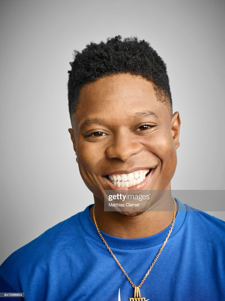 Actor Jason Mitchell from 'Kong: Skull Island' is photographed for Entertainment Weekly Magazine on July 23, 2016 at Comic Con in the Hard Rock Hotel in San Diego, California.