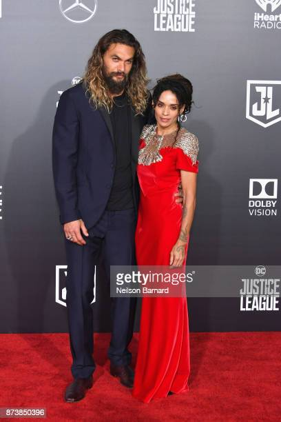 Actor Jason Momoa and Lisa Bonet attend the premiere of Warner Bros Pictures' 'Justice League' at Dolby Theatre on November 13 2017 in Hollywood...