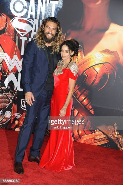 Actor Jason Momoa and Lisa Bonet attend the premiere of Warner Bros Pictures' 'Justice League' held at the Dolby Theatre on November 13 2017 in...