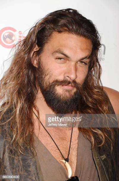 Actor Jason Momoa arrives at the CinemaCon 2017 Warner Bros Pictures presentation of their upcoming slate of films at The Colosseum at Caesars Palace...