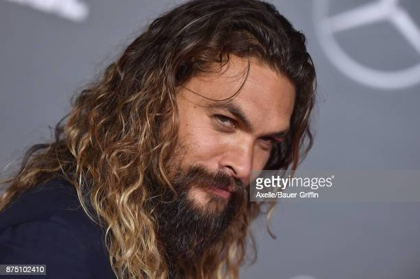 Actor Jason Momoa arrives at the premiere of Warner Bros Pictures' 'Justice League' at Dolby Theatre on November 13 2017 in Hollywood California