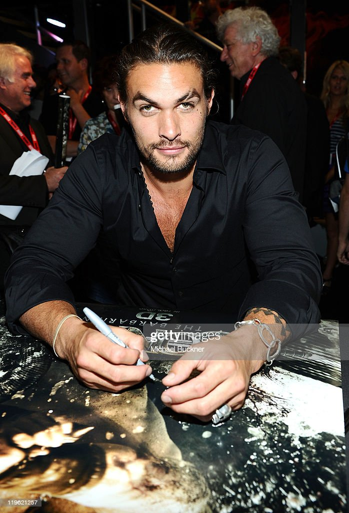 Actor Jason Momoa attends 'Conan The Barbarian' Autograph Signing during Comic-Con 2011 on July 22, 2011 in San Diego, California.