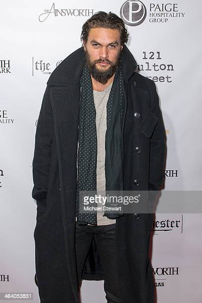 Actor Jason Mamoa attends Paige Hospitality Group's Third Annual Sundance Football Game Watch on January 19 2014 in Park City Utah