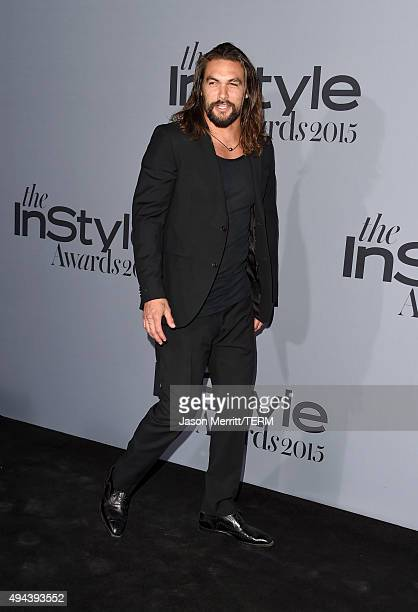 Actor Jason Momoa attends the InStyle Awards at Getty Center on October 26 2015 in Los Angeles California