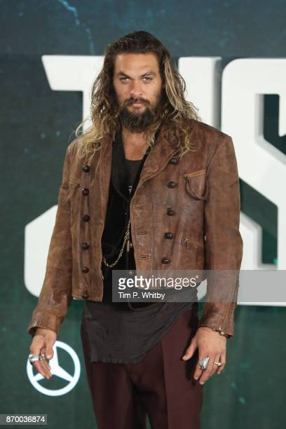 Actor Jason Momoa attends the 'Justice League' photocall at The College on November 4 2017 in London England