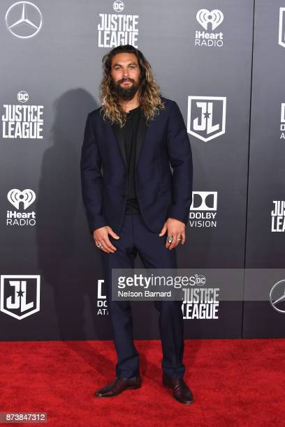 Actor Jason Momoa attends the premiere of Warner Bros Pictures' 'Justice League' at Dolby Theatre on November 13 2017 in Hollywood California