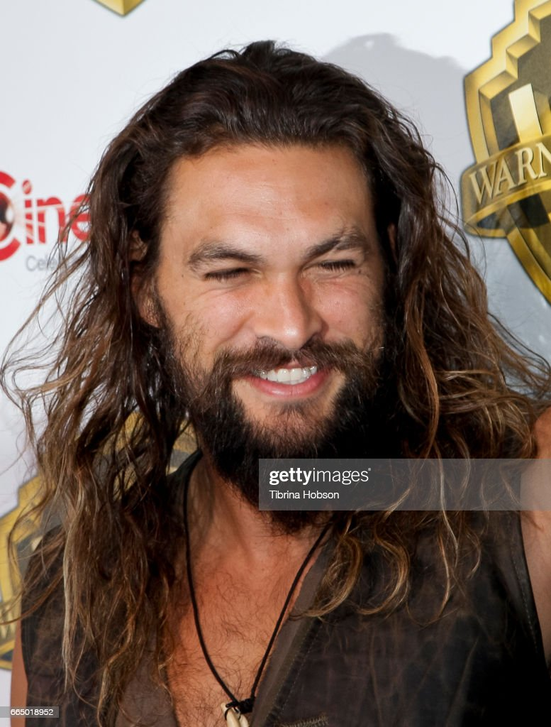 Actor Jason Momoa attends the Warner Bros. Pictures presentation during CinemaCon at The Colosseum at Caesars Palace on March 29, 2017 in Las Vegas, Nevada.