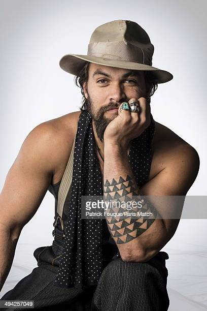 Actor Jason Momoa is photographed for Paris Match on March 11 2014 in ParisFrance