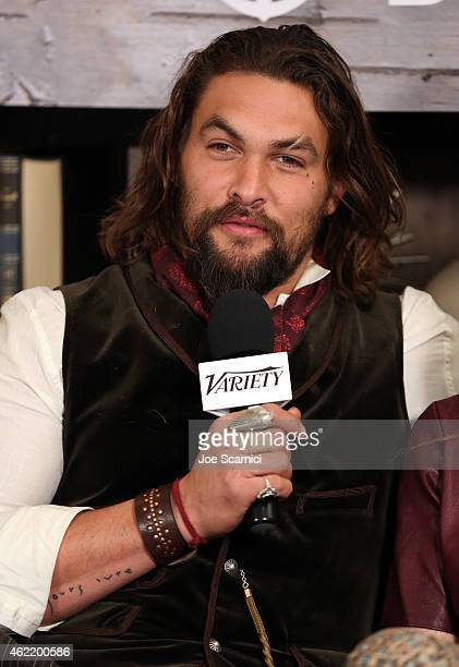 Actor Jason Momoa speaks at The Variety Studio At Sundance Presented By Dockers on January 25 2015 in Park City Utah