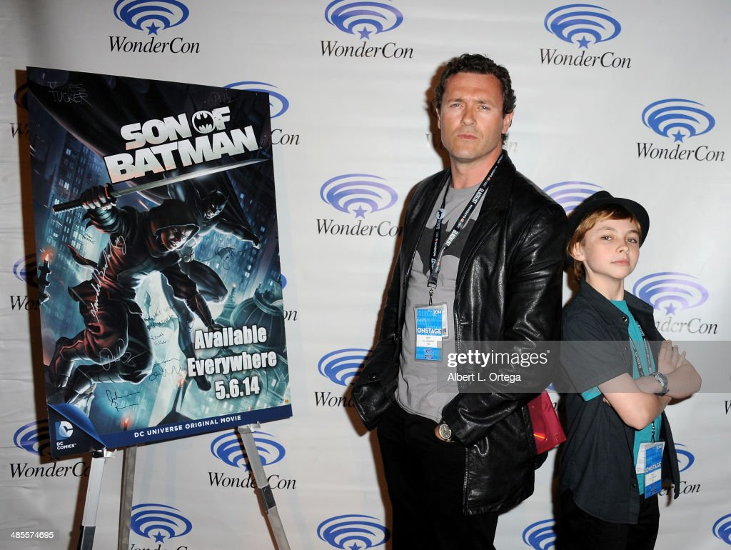 Actor <a gi-track='captionPersonalityLinkClicked' href=/galleries/search?phrase=Jason+O%27Mara&family=editorial&specificpeople=742824 ng-click='$event.stopPropagation()'>Jason O'Mara</a> and actor Stuart Allan attend WonderCon Anaheim 2014 - Day 1 held at the Anaheim Convention Center on April 18, 2014 in Anaheim, California.