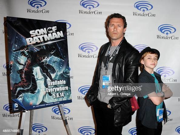 Actor Jason O'Mara and actor Stuart Allan attend WonderCon Anaheim 2014 Day 1 held at the Anaheim Convention Center on April 18 2014 in Anaheim...