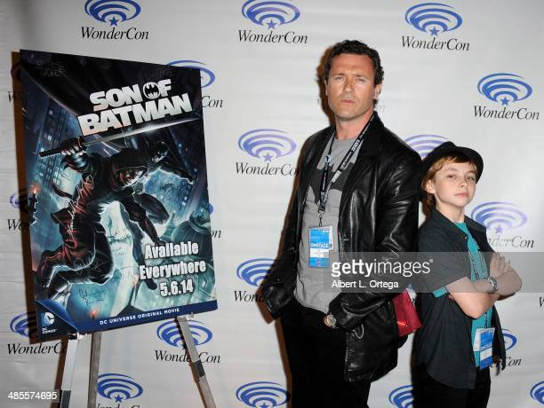 Actor Jason O'Mara and actor Stuart Allan attend WonderCon Anaheim 2014 Day 1 held at the Anaheim Convention Center on April 18 2014 in Anaheim...