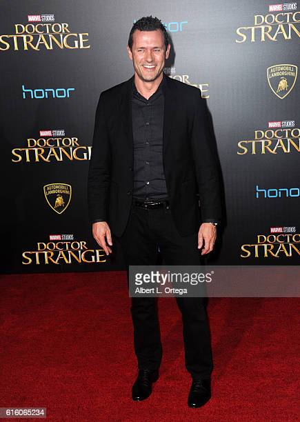 Actor Jason O'Mara arrives for the Premiere Of Disney And Marvel Studios' 'Doctor Strange' held at the El Capitan Theatre on October 20 2016 in...