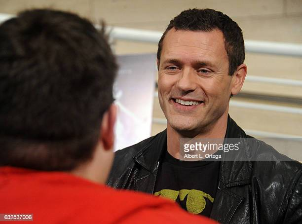 Actor Jason O'Mara is interviewed at the Premiere Of Warner Home Movies' 'Justice League Dark' held at The Paley Center for Media on January 23 2017...