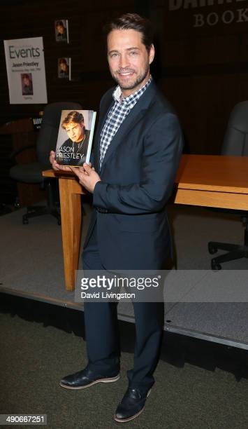 Actor Jason Priestley attends a signing for his book 'Jason Priestley A Memoir' at Barnes Noble bookstore at The Grove on May 14 2014 in Los Angeles...