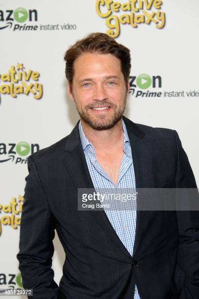 Actor Jason Priestley attends the Amazon premiere for the new kids series 'Creative Galaxy' from the creators of 'Blue's Clues' on June 23 2014 in...