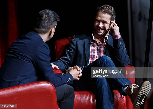 Actor Jason Priestley in conversation with Canadian television and radio personality George Stroumboulopoulos at 2013 Whistler Film Festival on...