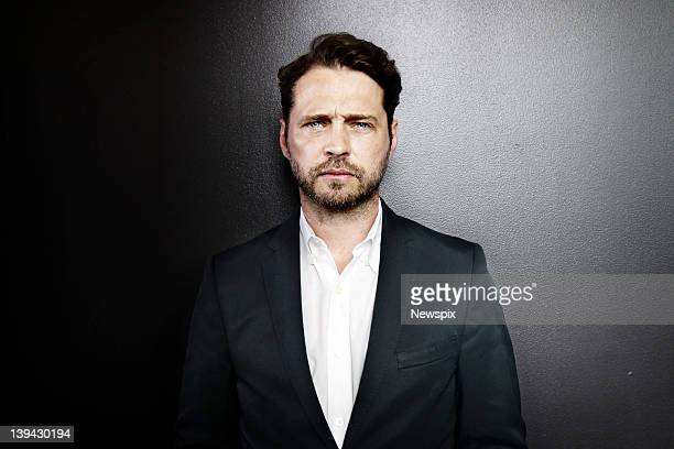 Actor Jason Priestley poses during a photo shoot at the InterContinental Hotel on February 19 2012 in Sydney Australia Priestley is in Australia to...