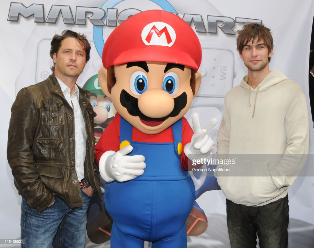 Cartoon pictures of chace crawford - Actor Jason Priestley Super Mario And Actor Chace Crawford At The Launch Of Mario Kart
