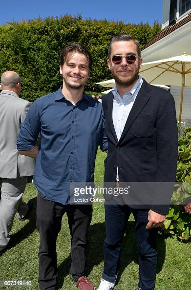 Actor Jason Ritter and ICM Partners' Andrew Kurland at the ICM Partners PreEmmy Brunch on September 17 2016 in Santa Monica California