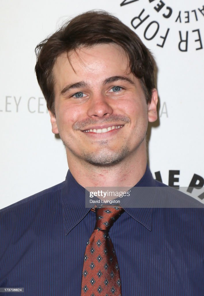 Actor <a gi-track='captionPersonalityLinkClicked' href=/galleries/search?phrase=Jason+Ritter&family=editorial&specificpeople=209201 ng-click='$event.stopPropagation()'>Jason Ritter</a> attends 'An Evening with Web Therapy: The Craze Continues...' presented by The Paley Center for Media at The Paley Center for Media on July 16, 2013 in Beverly Hills, California.