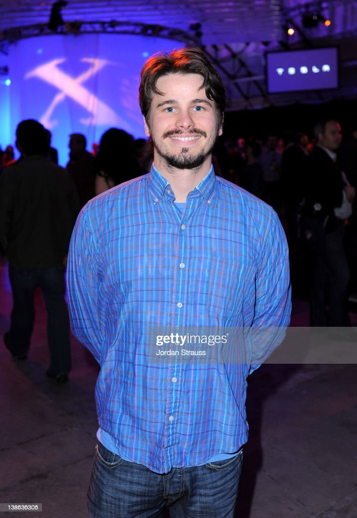 Actor <a gi-track='captionPersonalityLinkClicked' href=/galleries/search?phrase=Jason+Ritter&family=editorial&specificpeople=209201 ng-click='$event.stopPropagation()'>Jason Ritter</a> attends Tesla Worldwide Debut of Model X on February 9, 2012 in Los Angeles, California.