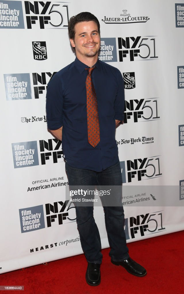 Actor <a gi-track='captionPersonalityLinkClicked' href=/galleries/search?phrase=Jason+Ritter&family=editorial&specificpeople=209201 ng-click='$event.stopPropagation()'>Jason Ritter</a> attends the '12 Years A Slave' & 'Nebraska' premieres during the 51st New York Film Festival at Alice Tully Hall at Lincoln Center on October 8, 2013 in New York City.