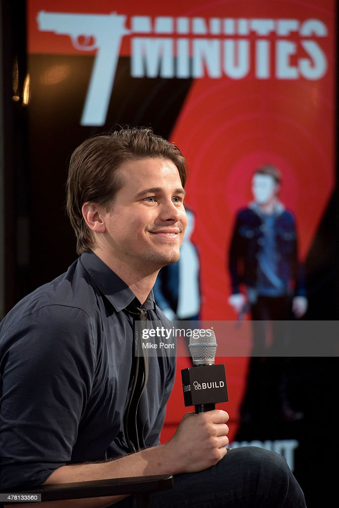 Actor Jason Ritter attends the AOL Build Speaker Series at AOL Studios In New York on June 22, 2015 in New York City.