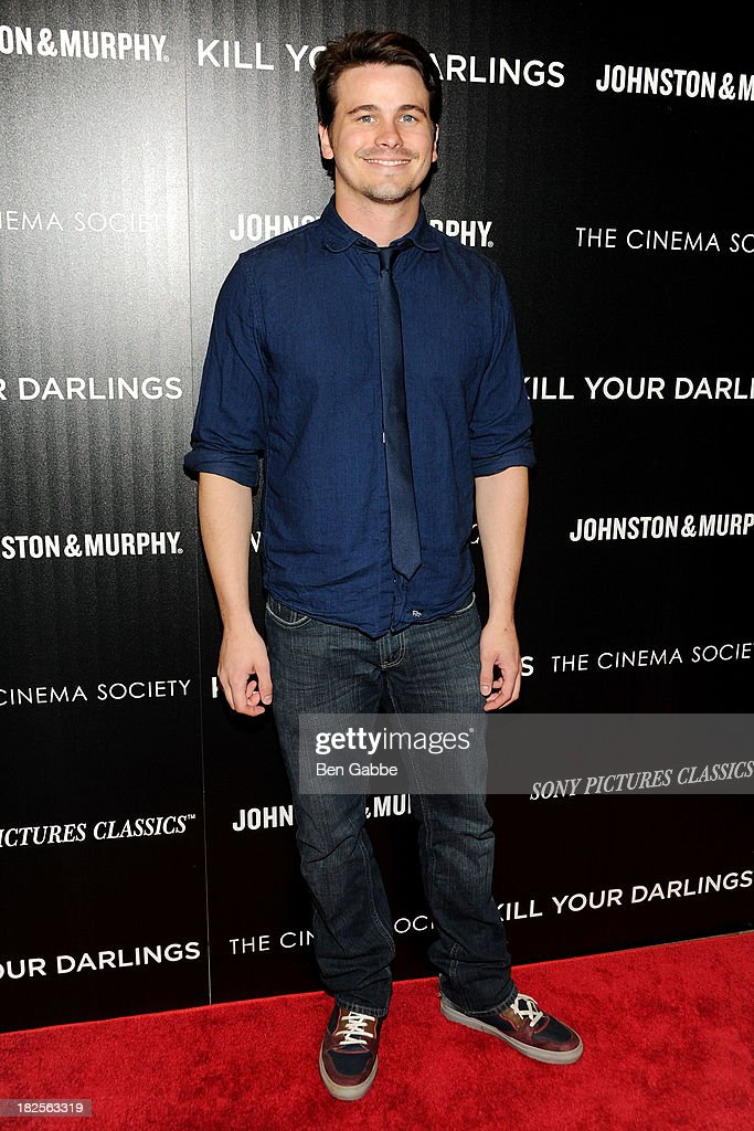 Actor <a gi-track='captionPersonalityLinkClicked' href=/galleries/search?phrase=Jason+Ritter&family=editorial&specificpeople=209201 ng-click='$event.stopPropagation()'>Jason Ritter</a> attends The Cinema Society and Johnston & Murphy host a screening of Sony Pictures Classics' 'Kill Your Darlings' at the Paris Theatre on September 30, 2013 in New York City.