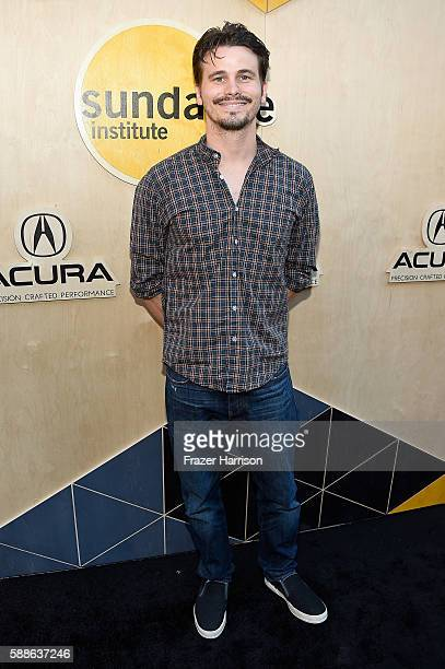 Actor Jason Ritter attends the Sundance Institute NIGHT BEFORE NEXT Benefit at The Theatre at The Ace Hotel on August 11 2016 in Los Angeles...