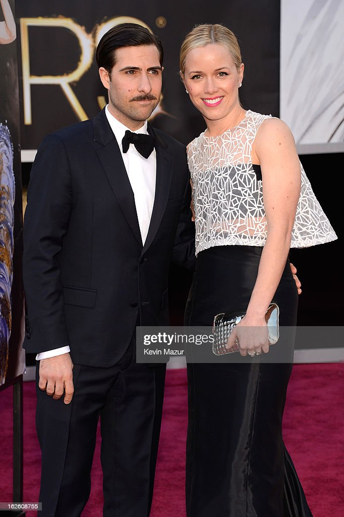 Actor <a gi-track='captionPersonalityLinkClicked' href=/galleries/search?phrase=Jason+Schwartzman&family=editorial&specificpeople=216351 ng-click='$event.stopPropagation()'>Jason Schwartzman</a> (L) and Brady Cunningham arrive at the Oscars held at Hollywood & Highland Center on February 24, 2013 in Hollywood, California.