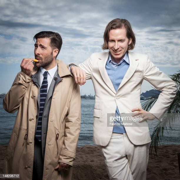 Actor Jason Schwartzman and director Wes Anderson are photographed for Self Assignment on May 18 2012 in Cannes France ON US EMBARGO UNTIL AUGUST 15...