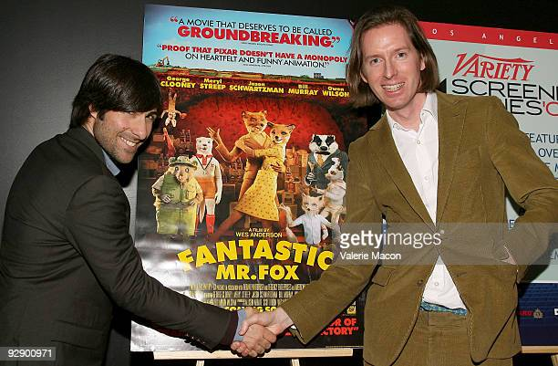 Actor Jason Schwartzman and director Wes Anderson attend the Variety screening of 'Fantastic M Fox' at the Landmark Theater on November 3 2009 in Los...