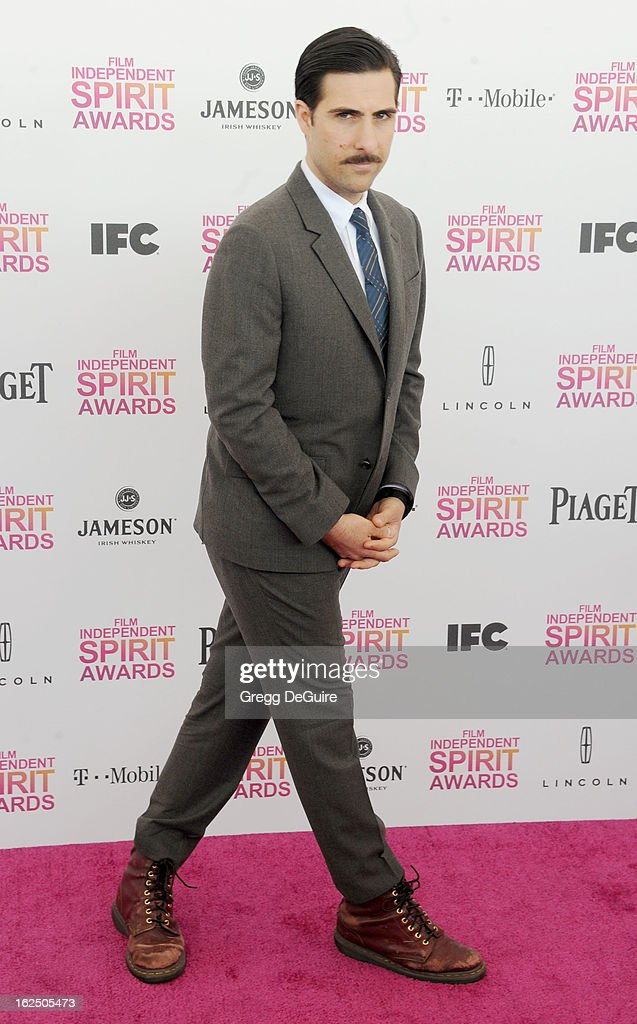 Actor <a gi-track='captionPersonalityLinkClicked' href=/galleries/search?phrase=Jason+Schwartzman&family=editorial&specificpeople=216351 ng-click='$event.stopPropagation()'>Jason Schwartzman</a> arrives at the 2013 Film Independent Spirit Awards at Santa Monica Beach on February 23, 2013 in Santa Monica, California.