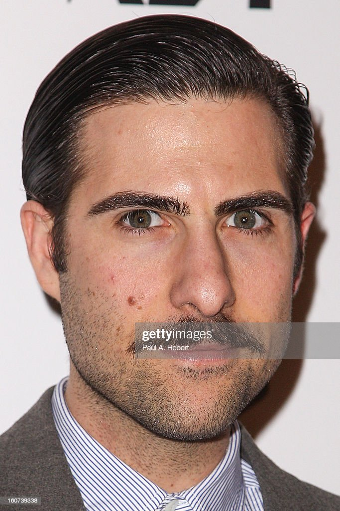 Actor Jason Schwartzman arrives at the premiere of A24's 'A Glimpse Inside The Mind of Charles Swan III' held at the ArcLight Hollywood on February 4, 2013 in Hollywood, California.