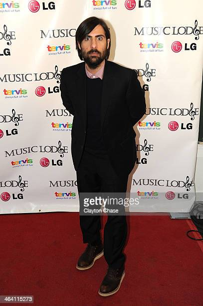 Actor Jason Schwartzman attends The 10th Anniversary LG Music Lodge At Sundance With Elio Motors And Tervis on January 20 2014 in Park City Utah