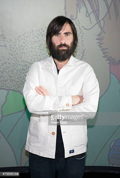 Actor Jason Schwartzman attends the '7 Chinese Brothers' New York premiere at The Old American Can Factory on May 30 2015 in the Brooklyn borough of...