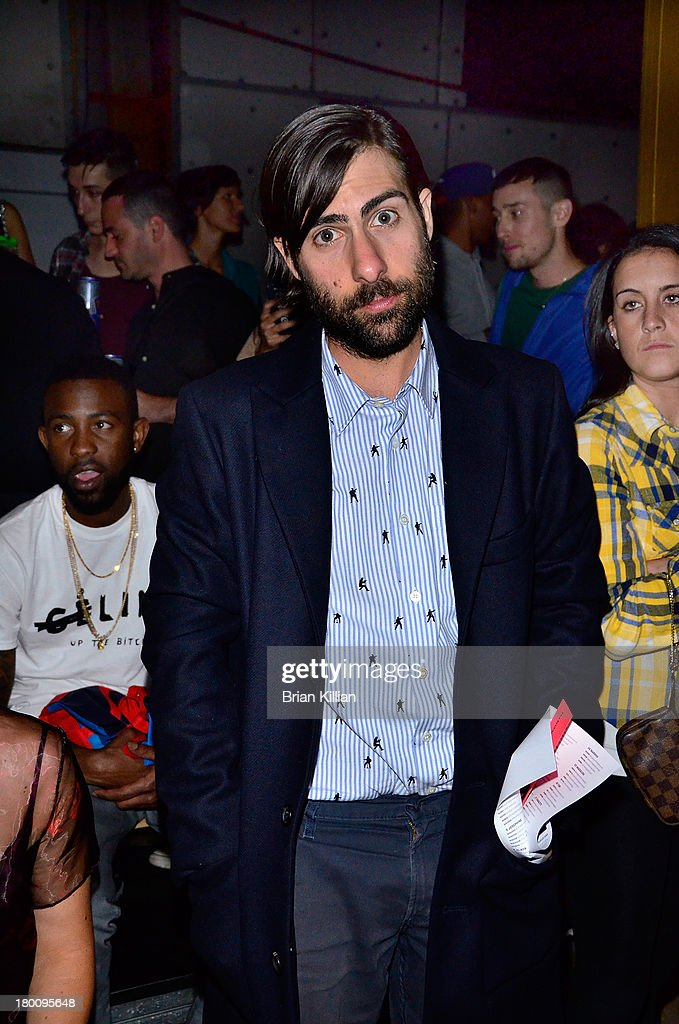 Actor <a gi-track='captionPersonalityLinkClicked' href=/galleries/search?phrase=Jason+Schwartzman&family=editorial&specificpeople=216351 ng-click='$event.stopPropagation()'>Jason Schwartzman</a> attends the Opening Ceremony show during Spring 2014 Mercedes-Benz Fashion Week at SuperPier 25 on September 8, 2013 in New York City.