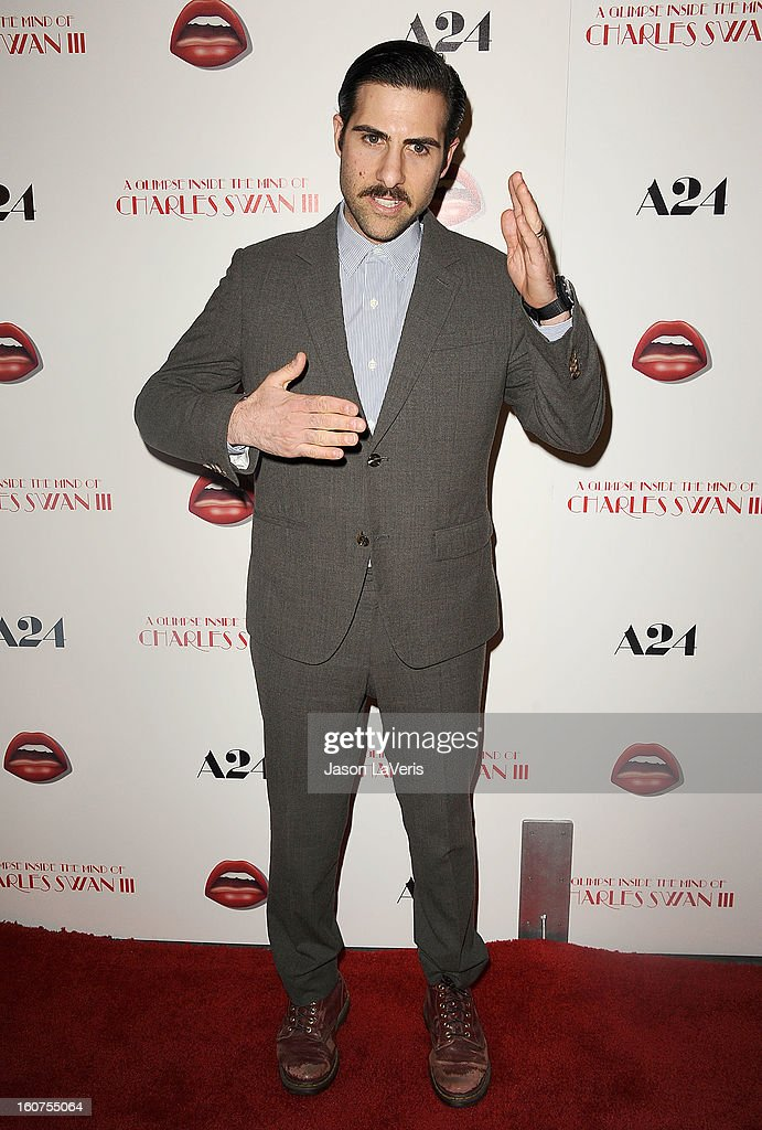 Actor Jason Schwartzman attends the premiere of 'A Glimpse Inside The Mind Of Charlie Swan III' at ArcLight Hollywood on February 4, 2013 in Hollywood, California.