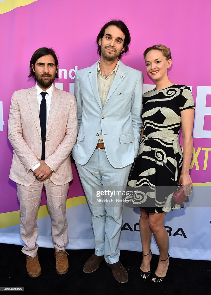 Actor <a gi-track='captionPersonalityLinkClicked' href=/galleries/search?phrase=Jason+Schwartzman&family=editorial&specificpeople=216351 ng-click='$event.stopPropagation()'>Jason Schwartzman</a>, director <a gi-track='captionPersonalityLinkClicked' href=/galleries/search?phrase=Alex+Ross+Perry&family=editorial&specificpeople=5914692 ng-click='$event.stopPropagation()'>Alex Ross Perry</a> and actress <a gi-track='captionPersonalityLinkClicked' href=/galleries/search?phrase=Jess+Weixler&family=editorial&specificpeople=4117574 ng-click='$event.stopPropagation()'>Jess Weixler</a> attend the screening of 'Listen Up Philip' during Sundance NEXT FEST at The Theatre at Ace Hotel on August 9, 2014 in Los Angeles, California.