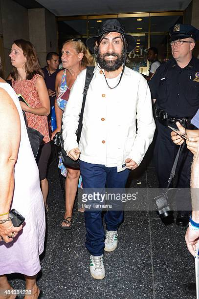 Actor Jason Schwartzman leaves the 'Today Show' taping at the NBC Rockefeller Center Studio on August 17 2015 in New York City
