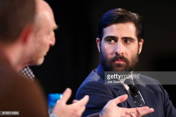 Actor Jason Schwartzman speaks onstage during the 'Bored to Death Reunion' panel part of Vulture Festival LA presented by ATT at Hollywood Roosevelt...
