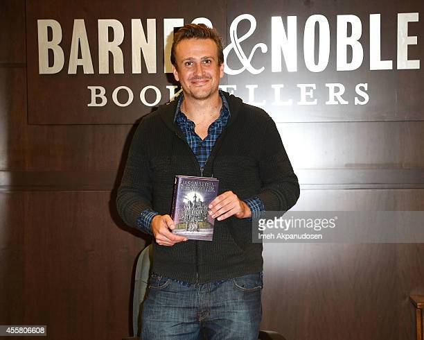 Actor Jason Segal signs and discusses his new book 'Nightmares' at Barnes Noble bookstore at The Grove on September 20 2014 in Los Angeles California