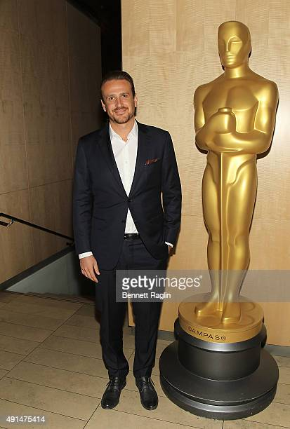 Actor Jason Segel attends the Academy Of Motion Picture Arts and Sciences New Member Reception in New York at Lincoln Ristorante on October 5 2015 in...